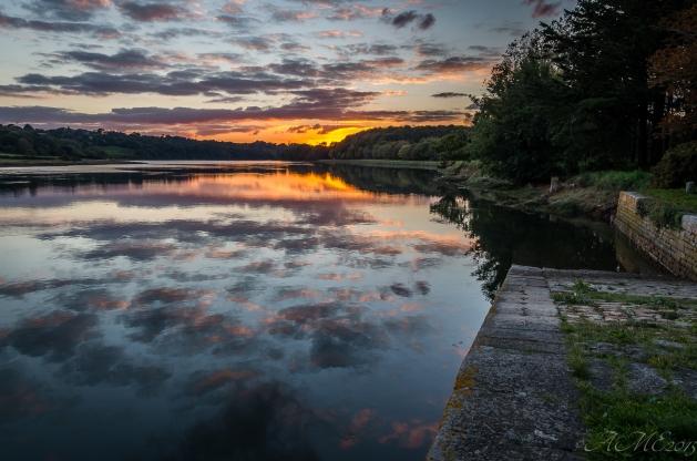 #sunset #Pont-Croix #Goyen #rivière