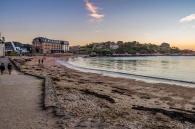 #plage #granit rose #soir