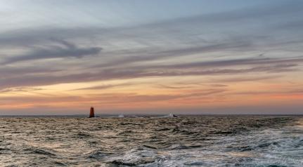 #sunset #mer #flots